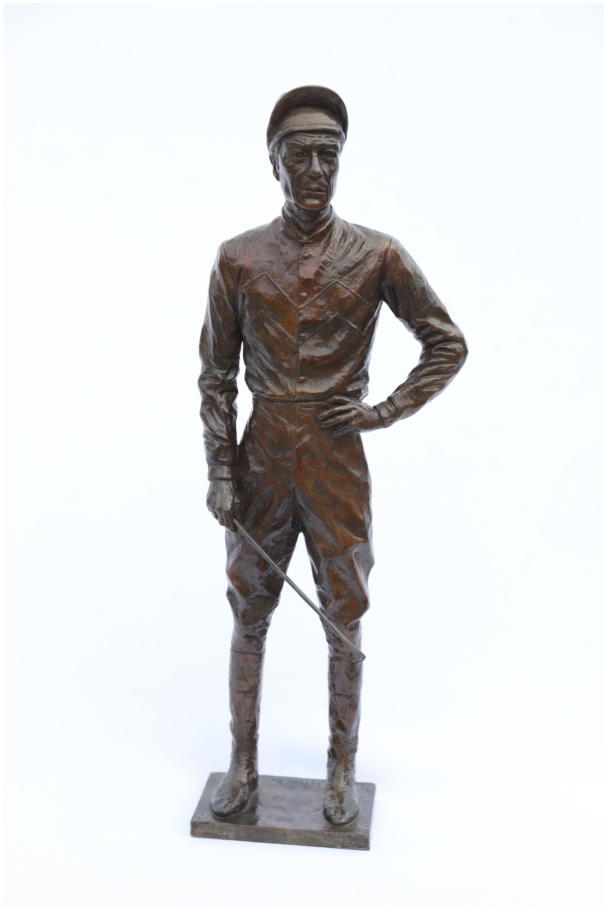 'The Working Maquette' for the life size sculpture, Lester Piggott by William Newton