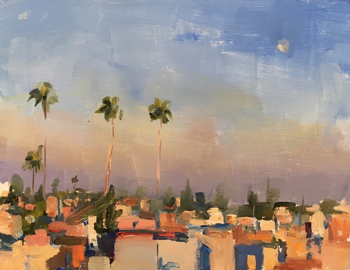 Phoebe Dickinson<br>Moroccan Palm Trees, Dawn