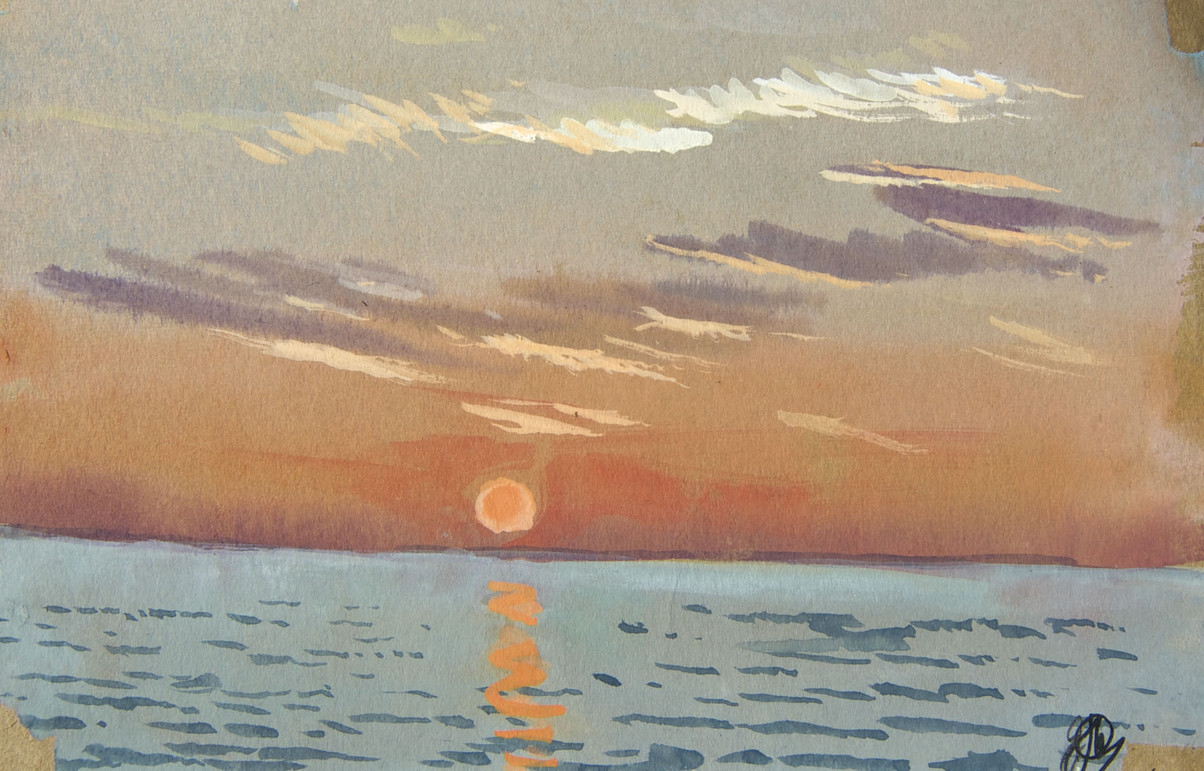 Sunset, Lake Ladoga II