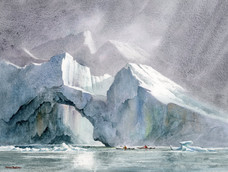 Amidst the icebergs
