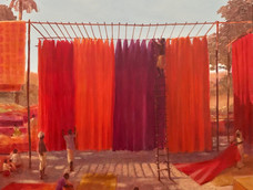 Drying textiles, Thar Desert