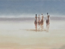 Four Camels on the Horizon