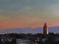 Moroccan Skyline at Sunrise, Phoebe Dickinson