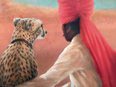 Jaipur Guard with Cheetah