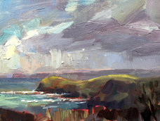 Lucy Kent<br>Stormy Sky, Lundy Bay