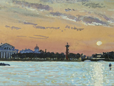 Sunset on the Neva, St. Petersberg